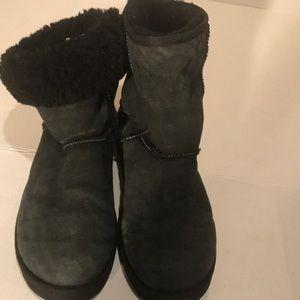 Ugg Black Mid Calf Boots - Sz 10